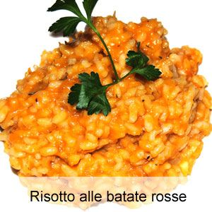 Risotto alle batate rosse