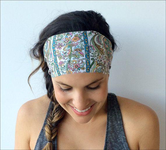 Yoga Headband  Running Headband  Workout by TrueNorthCollection