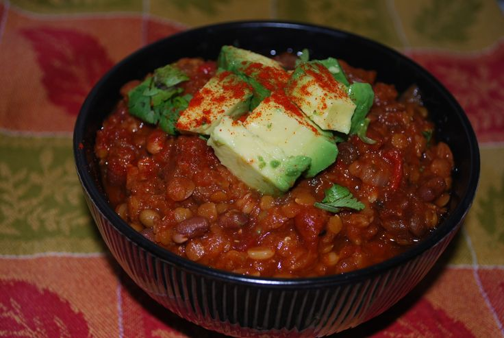 The Best Lentil Chili Ever (Slow Cooker)- definitely trying this, need ...