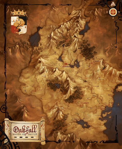 wellingtons-travel-map-blog: mapsontheweb: A fantasy map of Oakfall by Obliro at Cartographers' Guild This is just amazing. Voyage, map...