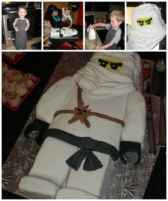 Cake at a Lego Ninjago Party #lego #ninjagopartycake