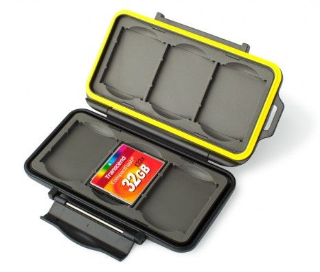 Memory Card Case - Yellow - Seamless
