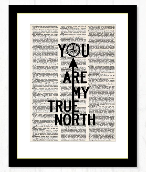 You Are My True North Compass Engagement by BluePoppyGallery