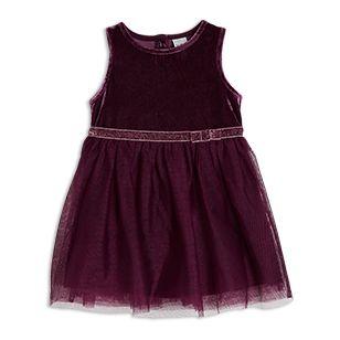 Připravena na párty! Roztomilé šaty s flitrovým páskem a sametovým topem.  Tyto šaty najdete i ve větších velikostech, pro starší sestřičku.