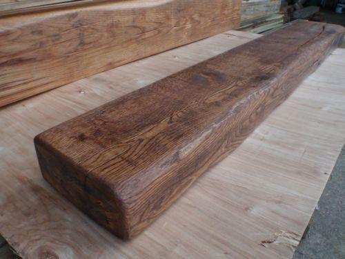 "6""x 3"" Air dried Solid oak beam mantel piece fireplace floating shelf unfinished | eBay"