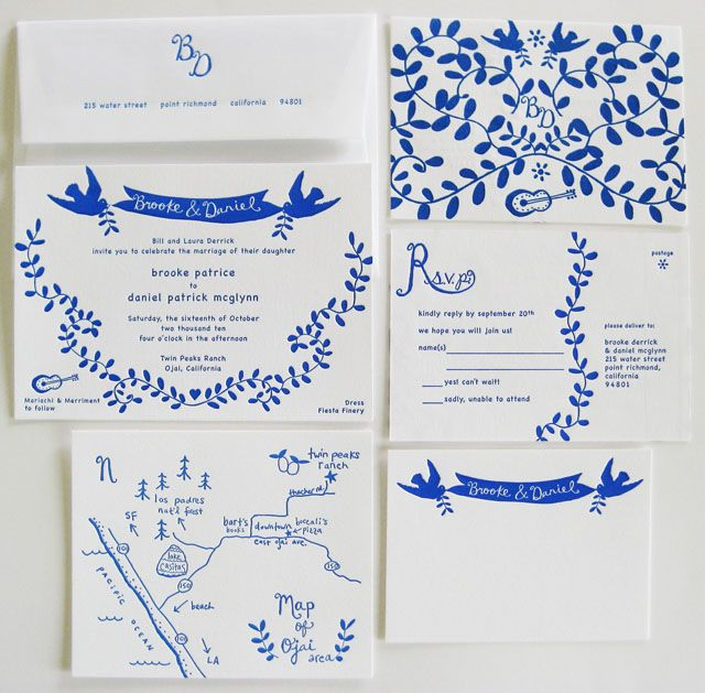 Nice monochrome idea - Elizabeth Hubbell stationery suite