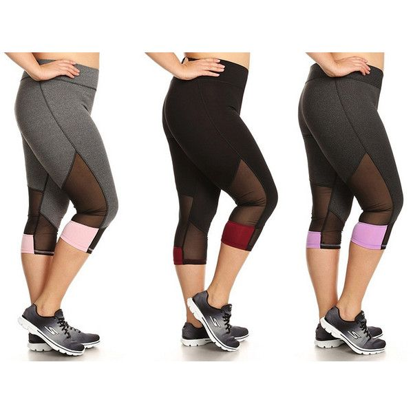 Women's EAG 3-Pack Women's Plus Size Cropped Active Capri1X (€36) ❤ liked on Polyvore featuring plus size women's fashion, plus size clothing, plus size activewear, plus size activewear pants, activewear, black, plus size sportswear and womens plus size activewear