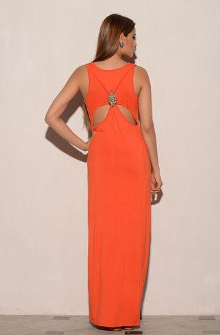 CAFFE SWIMWEAR Orange Jersey dress