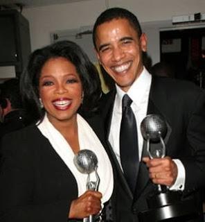 Oprah Winfrey and Barack Obama