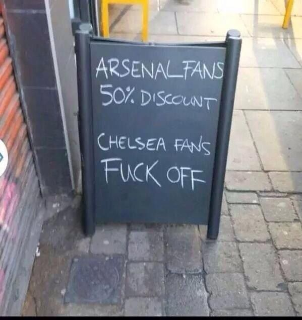 Arsenal Restaurant, I must find this.