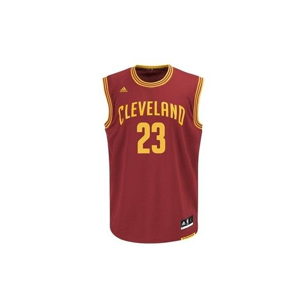 Cleveland Cavaliers Team Shop - Boys LeBron James 4-7 Replica Jersey ($35) ❤ liked on Polyvore featuring tops