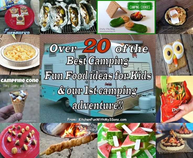 Over 20 of the best Camping Fun Food & Treat ideas for Kids from KitchenFunWithMy3Sons.com