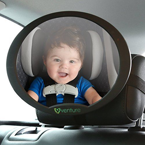 Venture Baby Car Mirror, safest rear view oval baby seat mirror for rear facing…