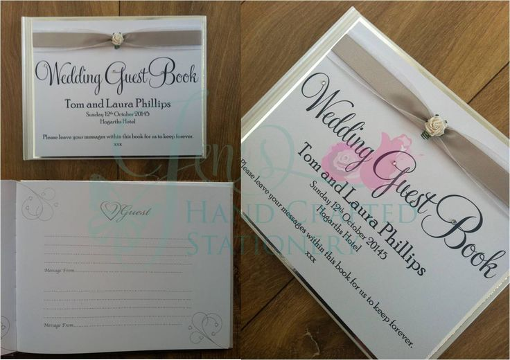 Silver wedding guest book with mulberry rose www.jenshandcraftedstationery.co.uk www.facebook.com/jenshandcraftedstationery