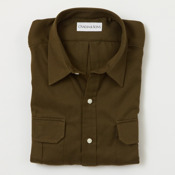 Ovadia & Sons Army Green Twill Military