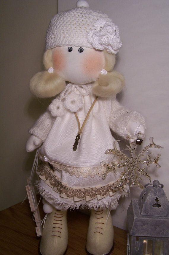 Wardress of good winter. With this charming elf girl mascot every winter will be magical to you. Pretty doll made of high quality cotton dressed in beautiful handmade clothes.