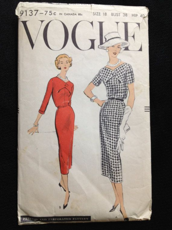 Vogue 9137 Vintage 1950s sewing pattern by momandpopcultureshop, $29.00