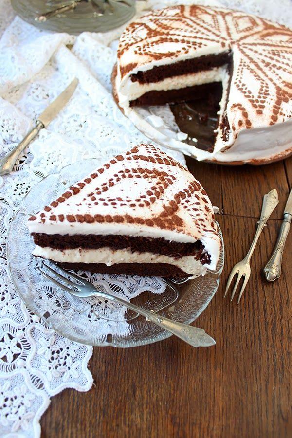 Torta de brownie con queso crema Baileys / Brownie Cake con queso crema Irlandesa de Bailey de relleno: Cocinar la Angellove