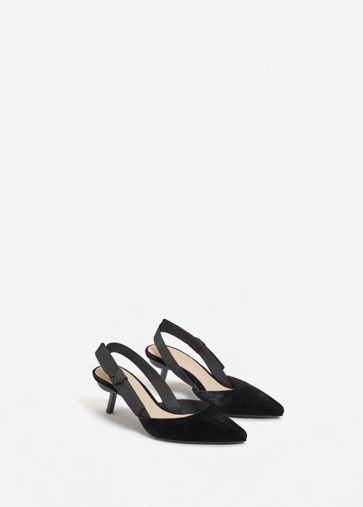 Zapato destalonado terciopelo - Zapatos de Mujer | MANGO México