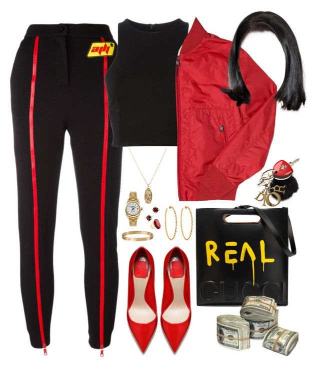 """Quintana - Travi$ Scott"" by milean ❤ liked on Polyvore featuring Gucci, Christian Dior, Ferrari, Au Jour Le Jour, T By Alexander Wang, ASOS, Moncler, Rolex, David Yurman and Lisa Stewart"
