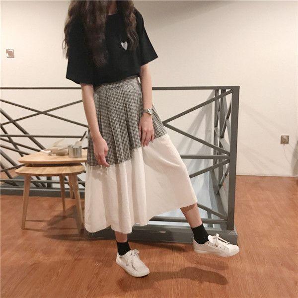 plated stich long skirts 1572▼サイズ丈70 ウエスト(ゴム)発着期間:10日〜3週間でお届けします。Shopの注意事項をよく読んでから、ご購入をお願い致します♪( ´▽`)キーワード:韓国ファッション、オルチャンファッション、プチプラファッション、レディースファッション、夏物、夏服、ロングスカート、ギンガムチェック