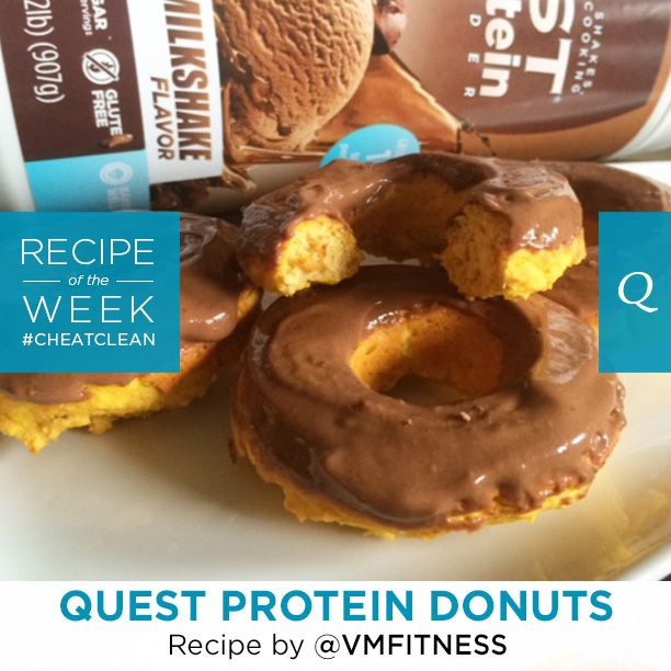 Clear the room when you take a bite of these Quest Nutrition #CheatClean Protein Donuts because you're gonna be dancing! Let's hear it for @vmfitness for this amazing Fan Recipe of the Week. Be sure…