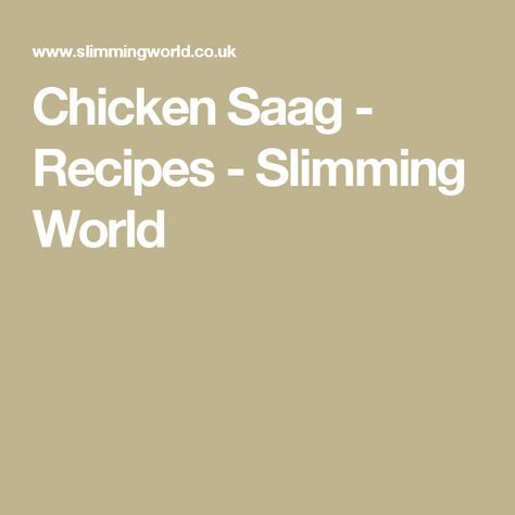 Chicken Saag - Recipes - Slimming World