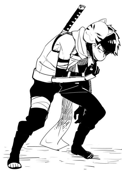 Ichimatsu anbu (ninja) mode    Osomatsu-san X Naruto    Anime crossover