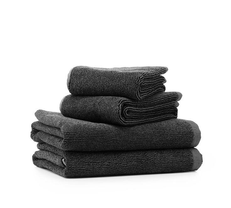 Vipp   store håndklæder i mørke grå