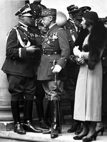 Bolesław Wieniawa-Długoszowski and Maurice Gamelin (French General)