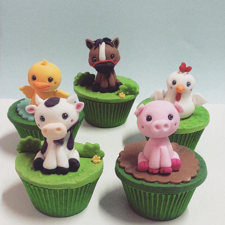 https://flic.kr/p/xSTpfn | Cupcakes fazendinha #cupcakes #farmcupcake #festafazendinha #anafuji #campinas #confeitariaartistica