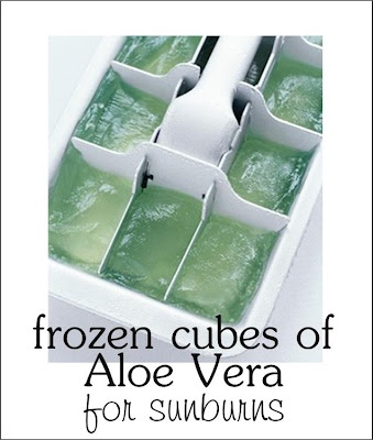Perfect remedy for a sunburn! Frozen Aloe Vera. Will cool you off and make your sunburn feel so much better! #TipsandTricks