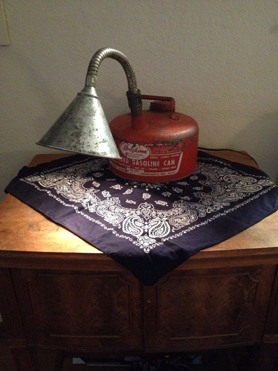 Vintage Gas Can Lamp on Etsy, $65.00