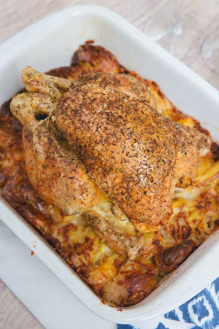 Nesting Roast Chicken