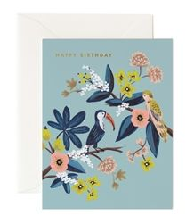 Rifle Paper Co. Toucan Birthday cards from the Autumn 2015 Collection, now at Northlight