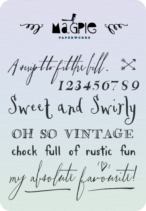 very cool fontsVintage Calligraphy Fonts, Magpie Paperwork, Tattoo Fonts Scripts, Free Handwritten Fonts, Fonts Free Vintage, Handwritten Lettering Ideas, Paper Work, Fonts Tattoo Handwriting, Vintage Font Design Graphics