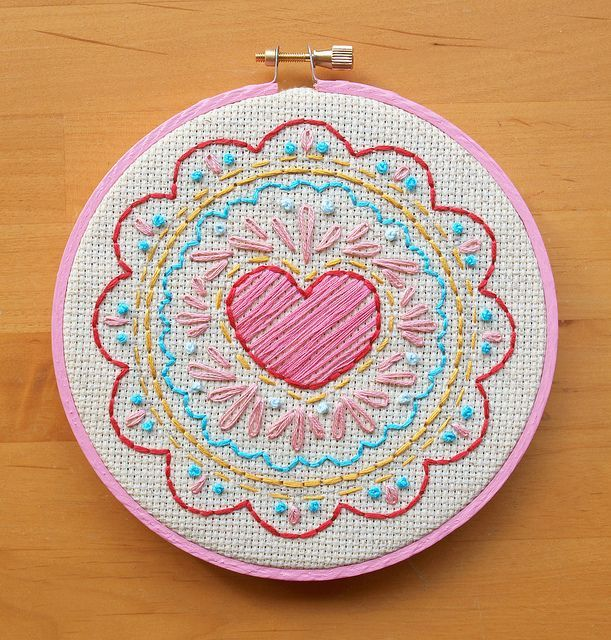 26 Fun And Free Embroidery Patterns - | Embroidery Heart Doodle And Hand Embroidery Patterns