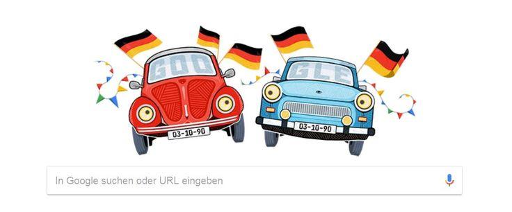 Der tolle Doodle von Google zum Tag der Deutschen Einheit. Quelle Google 03.10.2017