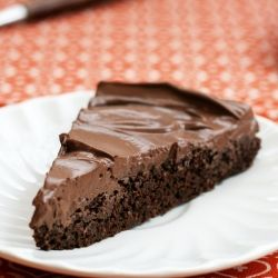 1 layer of rich chocolate cake, 1 layer of creamy mousse, and under 200 calories a slice.  Need I say more?