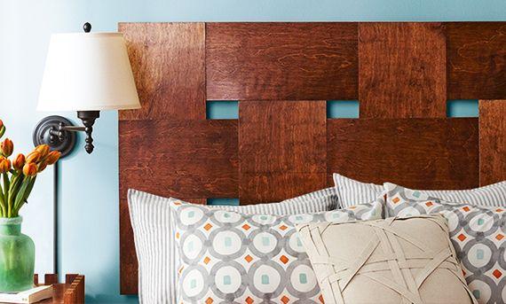 toole idee für kopfteil selber machen aus sperrholzplatten und coole wohnidee schlafzimmer