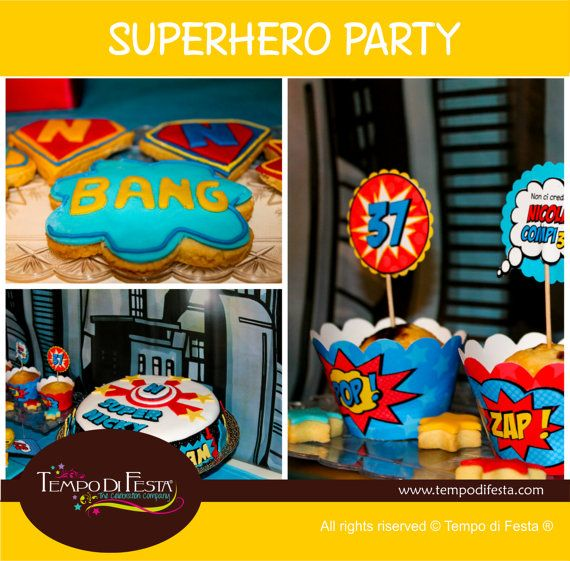 Superhero  Printable Party