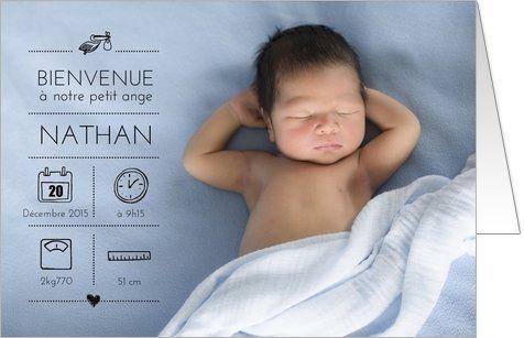 Faire-part naissance photo original:
