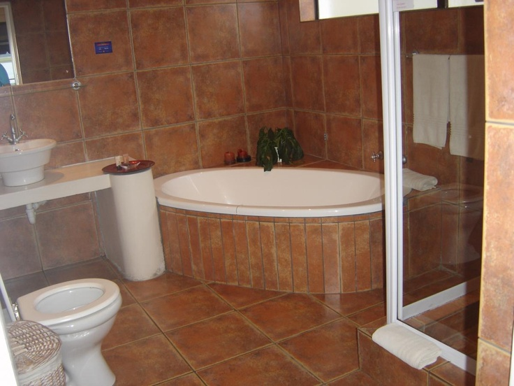 On suite bathrooms at Knysna Terrace Guesthouse http://www.knysnaterrace.co.za