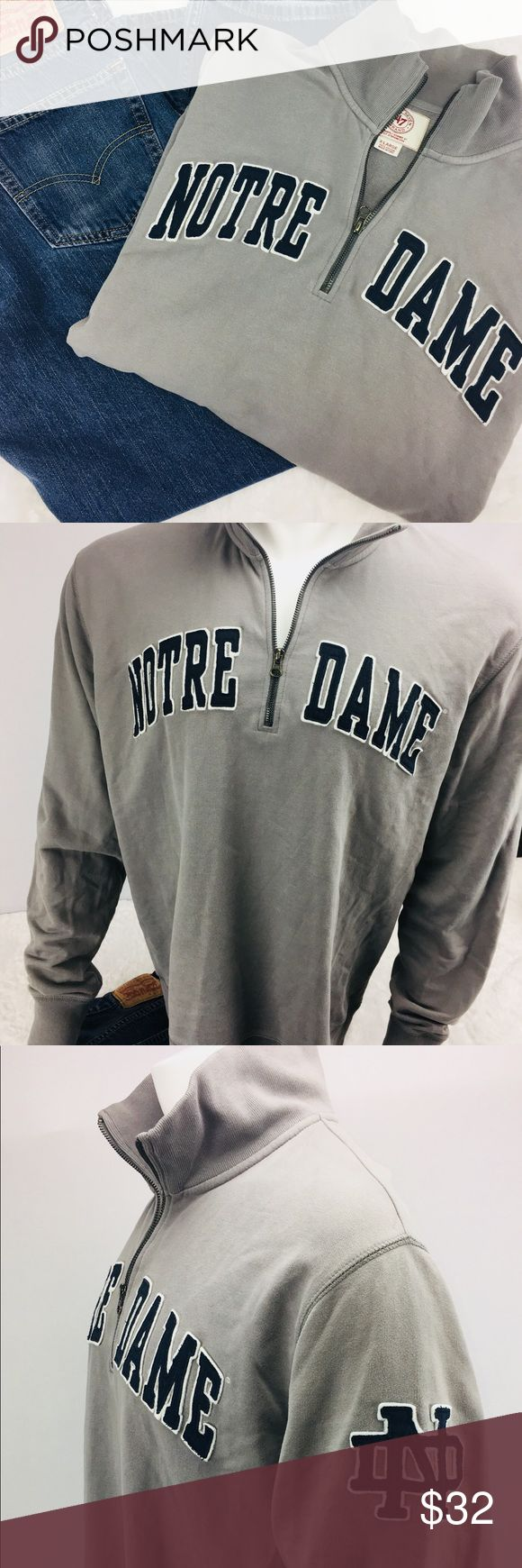 NOTRE DAME Men's 1/4 Zip X-Large Sweatshirt NOTRE DAME~ Men's XL Sweatshirt ~ 1/4 Zip~ In GREAT condition!! ~ Coming from a pet free and smoke free 🏡!! NOTRE DAME Shirts Sweatshirts & Hoodies