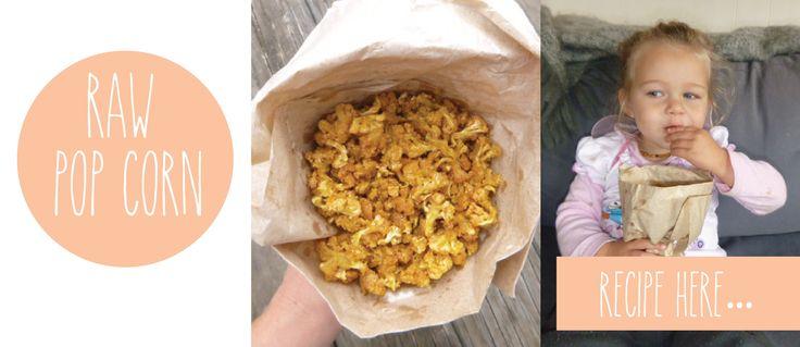 Raw PopCorn Recipe