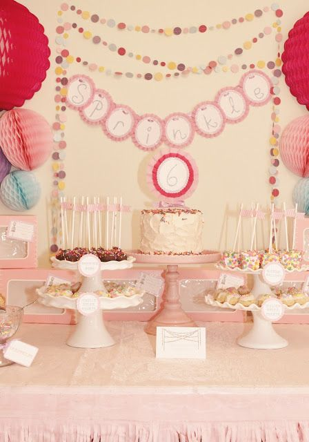 Sprinkle party - would make a great girls b'day party. By Icing Designs