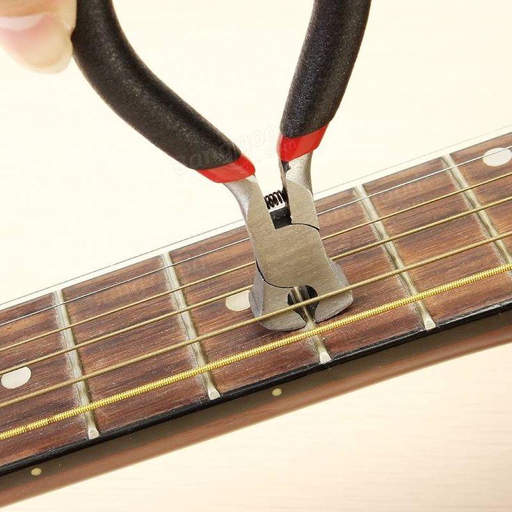 Guitar String Nipper Puente Pin Puller Fret Cutter para Luthier Guitar Repair