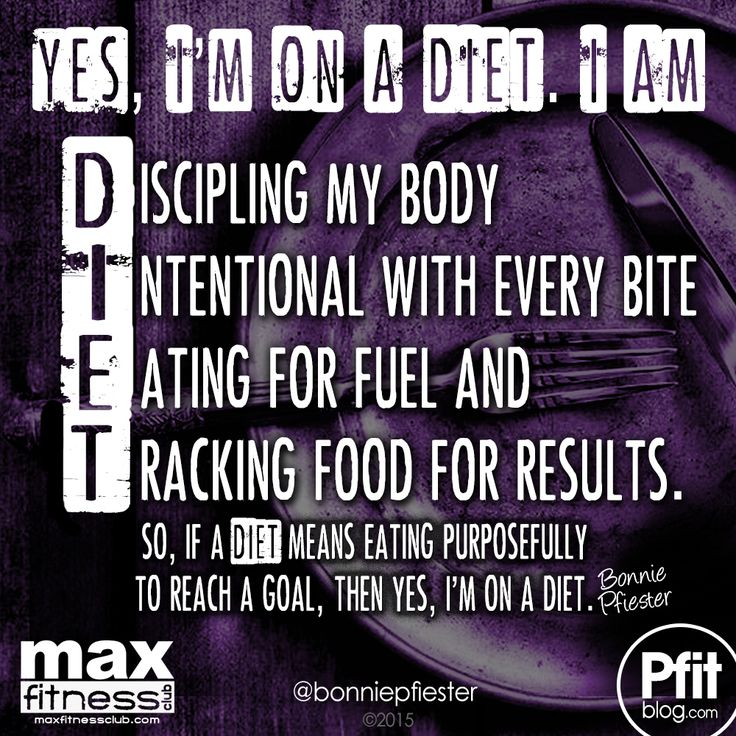 """I Said Diet, Not DIE! » PfitBlog 