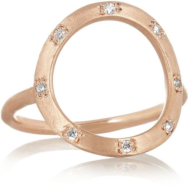 Brooke Gregson 14-karat rose gold diamond ring ($975) ❤ liked on Polyvore featuring jewelry, rings, rose gold, 14k diamond ring, diamond jewellery, 14 karat gold ring, stud ring and 14k jewelry