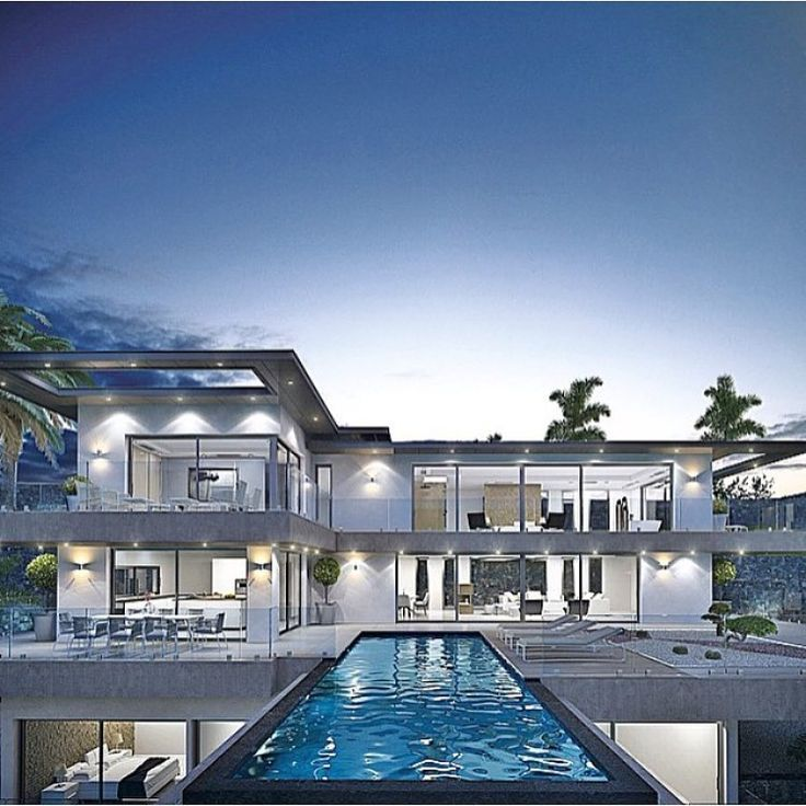 Stunning Modern Home With An Infinity Pool Beautiful Modern